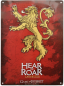 Mobile Preview: GAME OF THRONES Metallplatte Lannister Schild