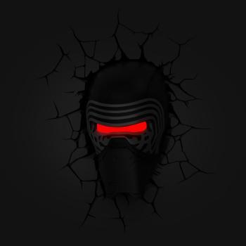 3D LED Star Wars Wandleuchte - Kylo Ren Helm™