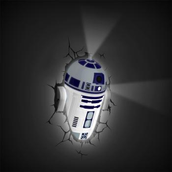 3D LED Star Wars Wandlampe - R2-D2™ Android 4