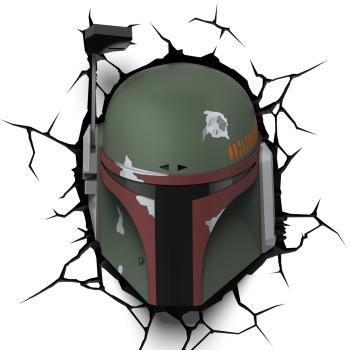 3D LED Star Wars Wandleuchte - Boba Fett Helm ™