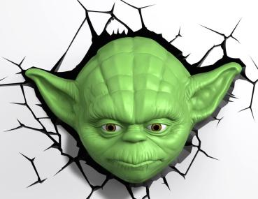 3D LED Star Wars Wandleuchte - Yoda™