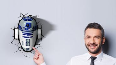 3D LED Star Wars Wandlampe - R2-D2™ Android 7