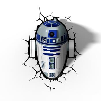 3D LED Star Wars Wandlampe - R2-D2™ Android 2