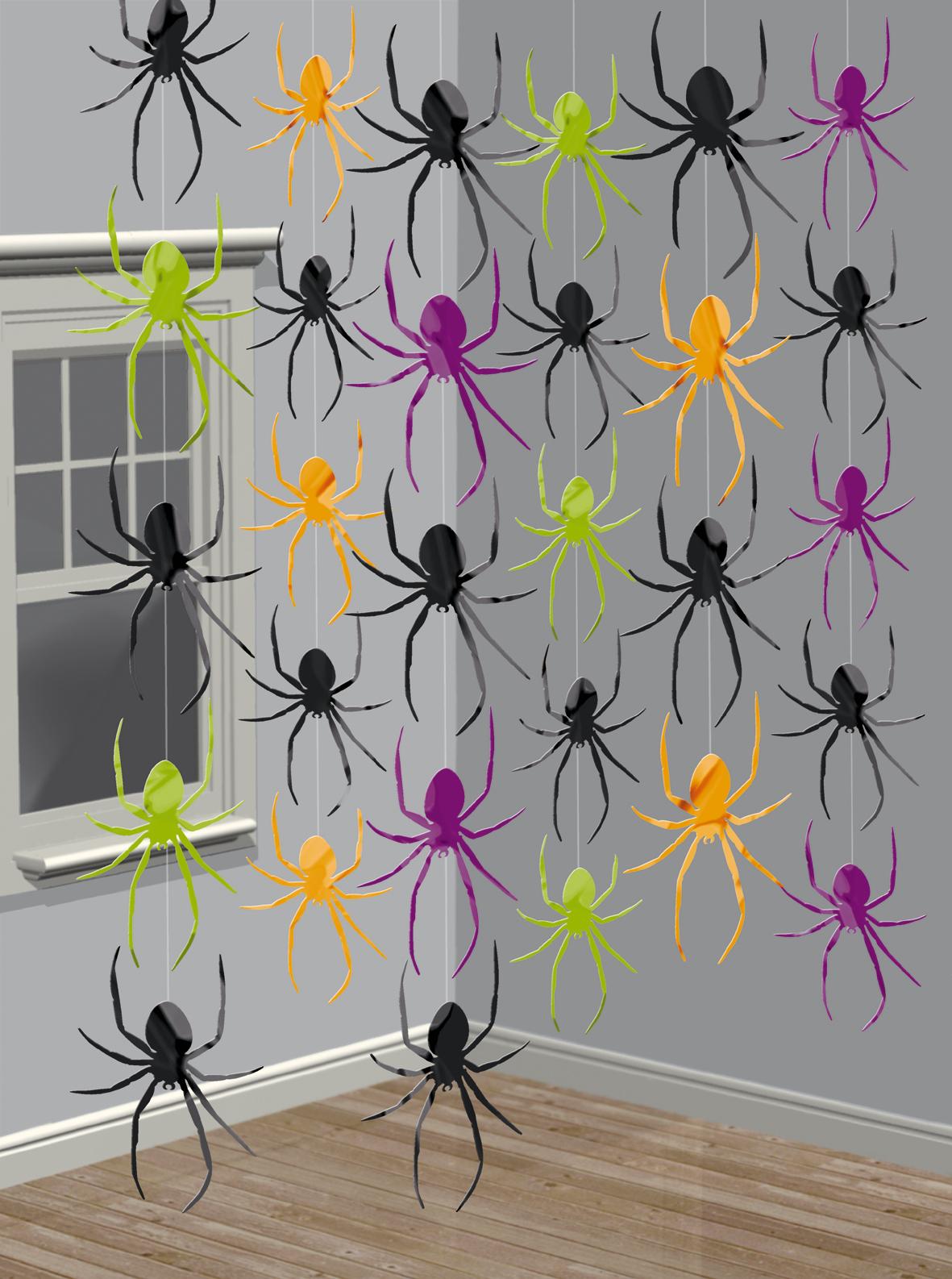 Hangende Spinnen Deckendekoration Trophaen Horror