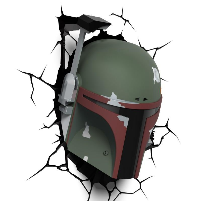 3D LED Star Wars Wandlampe Boba Fett Helm