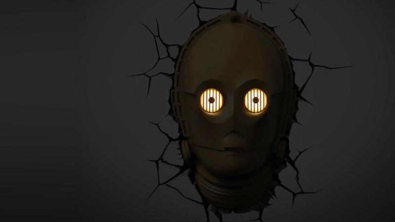 3D LED Star Wars Wandleuchte - C-3PO Kopf™ - ☆Trophäen☆ - ☆Horror ...