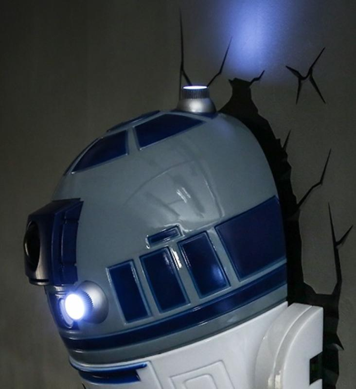 3D LED Star Wars Wandlampe - R2-D2™ Android 6