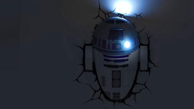 3D LED Star Wars Wandlampe - R2-D2™ Android 5